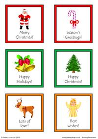 Christmas - Printable gift tags 1