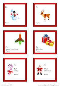 Christmas - Printable gift tags 2