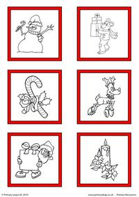 Christmas - Printable gift tags to colour 1