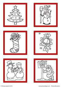 Christmas - Printable gift tags to colour 2