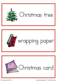Christmas flashcard - set 1