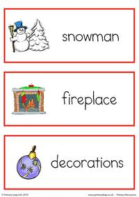 Christmas flashcard - set 2
