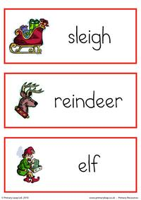 Christmas flashcard - set 3