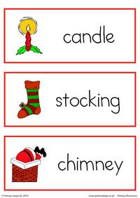 Christmas flashcard - set 5
