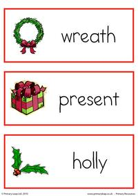 Christmas flashcard - set 7
