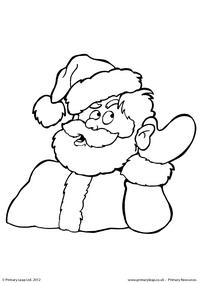 Colouring picture - Santa hears something