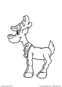 Colouring picture - Standing reindeer