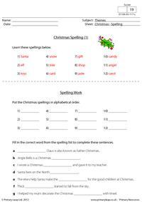 Christmas - Spelling