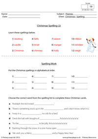 Christmas - Spelling (2)