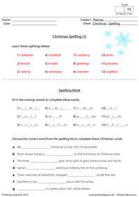 Christmas - Spelling (3)