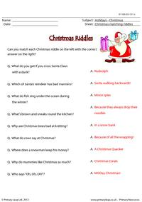 Christmas riddles - Matching