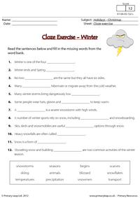 Cloze Exercise - Winter