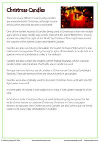 Fact Sheet - The History of Christmas Candles