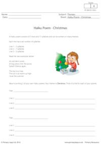 Haiku Poem - Christmas