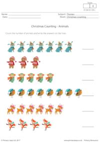 Christmas Counting - Animals