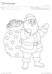 Christmas colouring page - Santa Claus