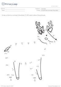 Connect the dots (1-36) - Reindeer