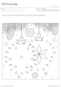 Connect the dots (1-37) - Christmas decorations