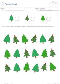 Christmas counting - How many Christmas trees?