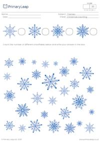 Christmas counting - How many snowflakes?