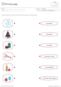 Christmas vocabulary matching 1