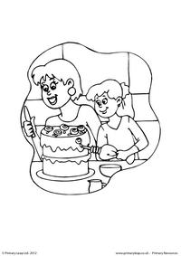 Mother's Day - colouring page 1