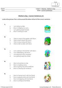 Mother's Day - Correct sentences 5
