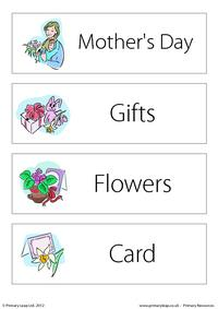 Mother's Day - Word wall 2
