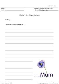 Mother's Day - Thank you for...