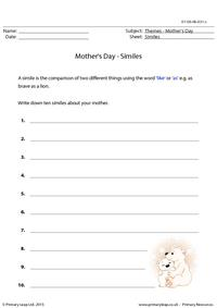 Mother's Day - Similes