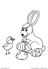 Easter - colouring sheet 4