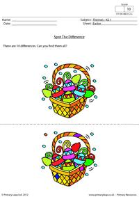 Easter - Spot the difference 1