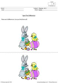 Easter - Spot the difference 2