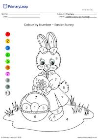 Colour By Number - Easter Bunny