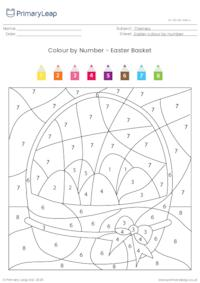 Colour By Number - Easter Basket