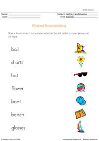 Word and picture matching