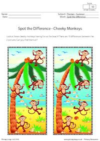 Spot the Difference - Cheeky Monkeys