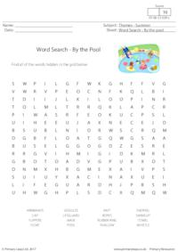 Word Search - By The Pool