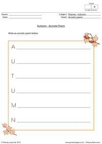 Autumn - Acrostic poem