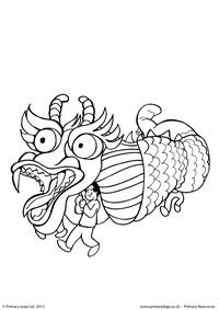 Chinese New Year - Colouring picture 1