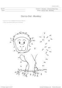 Dot-to-dot - Monkey