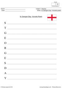 St. George's Day - Acrostic poem