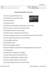 Interesting Facts About The Titanic