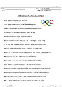 The Olympic Games - Fact sheet