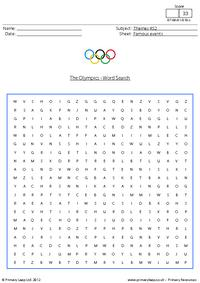 The Olympics - Word Search