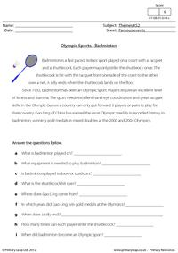 Olympic Sports - Badminton
