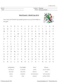 World Cup 2014 - Word Search