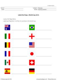 Label the Flags - World Cup 2014