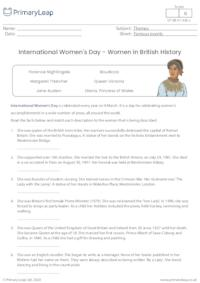 International Women's Day - Women in British History