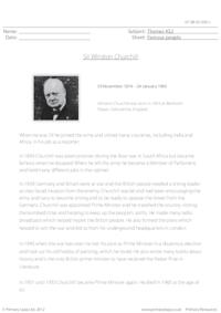 Sir Winston Churchill - Comprehension